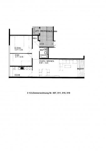 3 1/2-Zimmerwohnung im St. Johannquartier