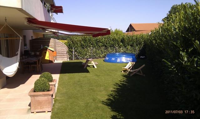 Magnifique rez-de-jardin à Aclens