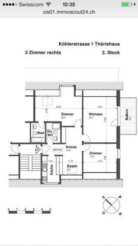 Schöne, gemütliche 3.5-Zimmerwohnung zu vermieten 13058014