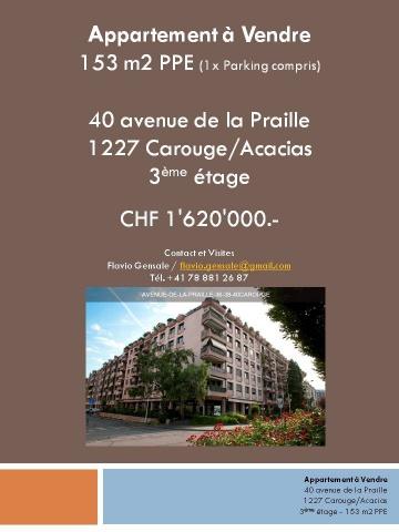 Appartement 153m2 à vendre - Carouge
