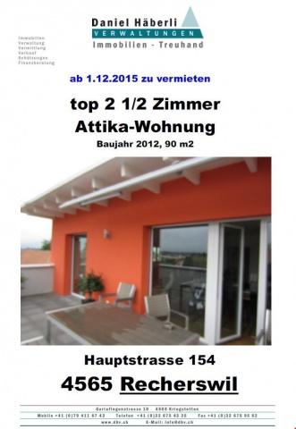 top 90 m2 2 1/2 Zimmer Attikawohnung 12410639