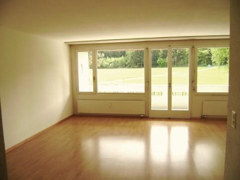 3 1/2-Zimmerwohnung mit Aussicht auf Feld + Wald