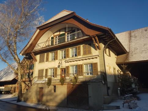 Grosse 4,5-Zimmerwohnung mit Galerie und Balkon in Bauernhaus