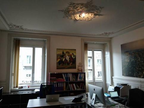 Grosszügiger Büroraum (1-3 Plätze) in einer Bürogemeinschaft