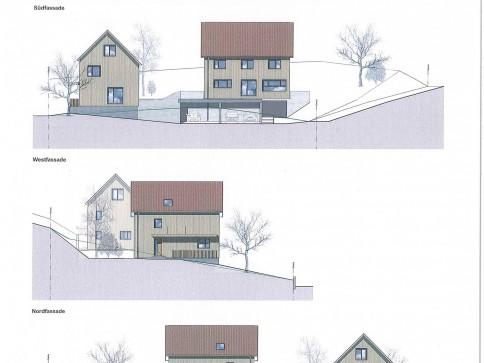 Land mit bewilligtem Bauprojekt für 2 Einfamilienhäuser