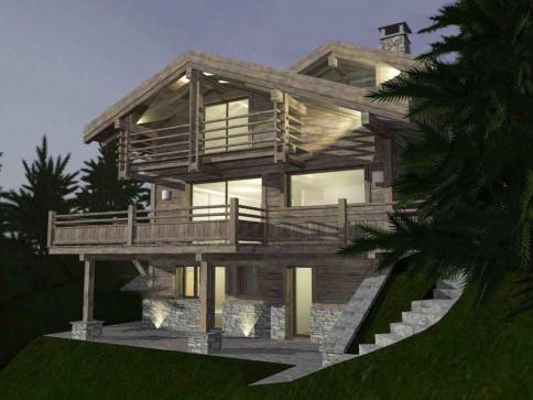 Mayens de Chevillard A - chalet de luxe en vieux bois à construire