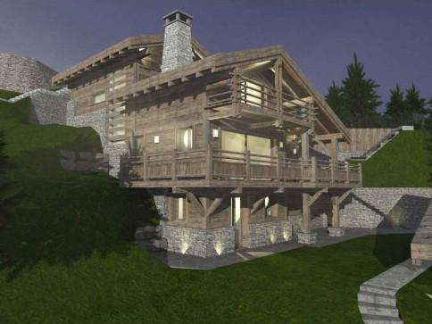 Mayens de Chevillard B - chalet de luxe en vieux bois à construire