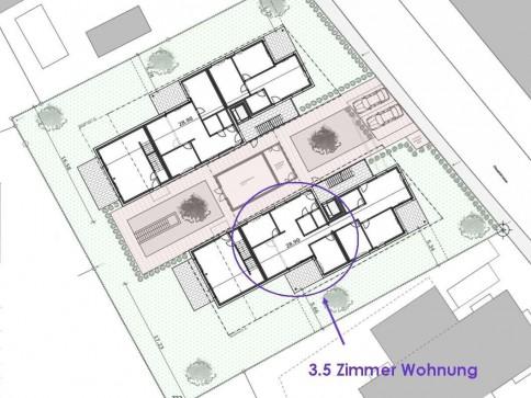 Moderne 3.5-Zimmer Wohnung Erdgeschoss