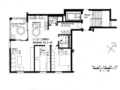 Moderne Wohnung im Schorenquartier