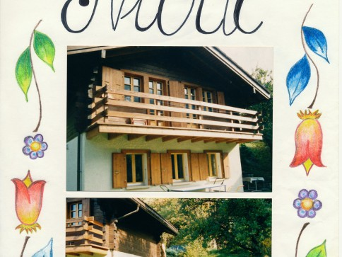 Petit coin de paradis en Anniviers, terrasse, balcon et jardin.