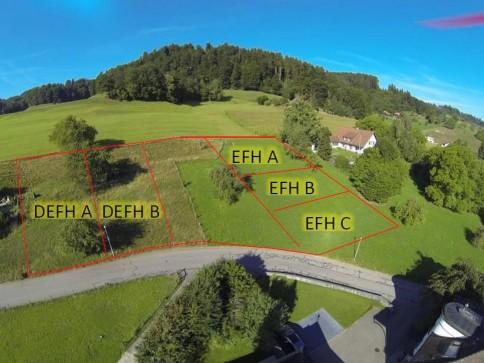Schöne Baulandparzellen an erhöhter und sonniger Lage!