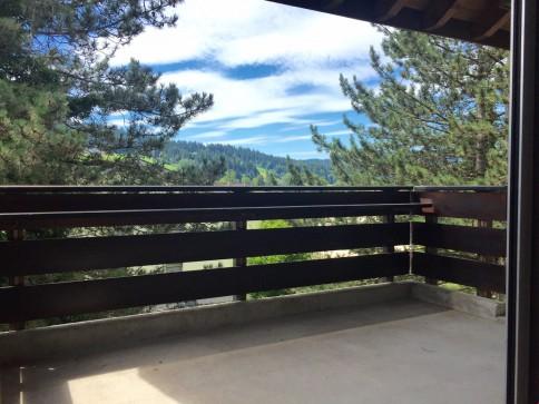Toller, gemütlicher Balkon mit Ausblick ins Grüne...