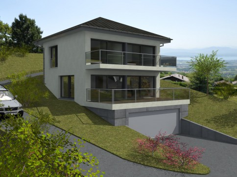 Vente sur plan de deux villas individuelles contemporaines