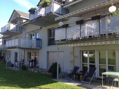 4-Zimmer Wohnung mit Gartensitzplatz und schöner Aussicht