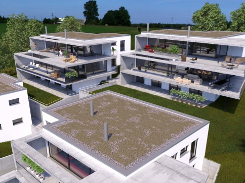 5.5-Zi. Wohnung (224m2) mit 2 grossen Terrassen & Privatgarten
