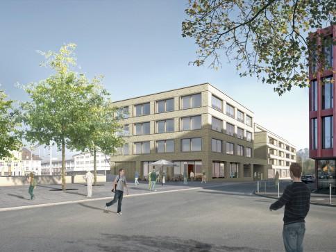 """Arbeiten und Wohnen im """"ARCMALA-Haus"""" am Bahnhofplatz Lenzburg"""
