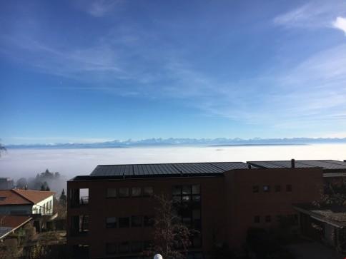 Entfliehen Sie dem Nebel und geniessen Sie den traumhaften Ausblick!