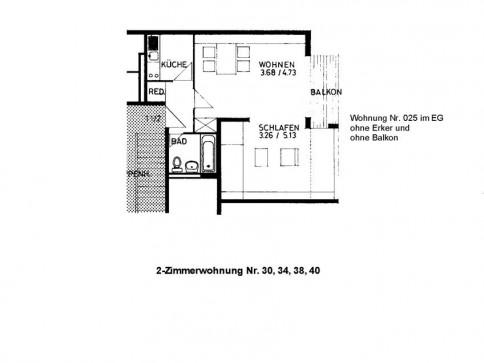 Helle, freundliche 2-Zimmerwohnung