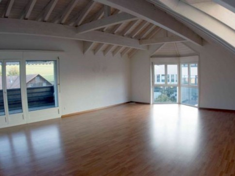 Mieten Sie eine wunderschöne Dachwohnung mit riesigem Wohnzimmer