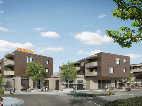 MIGROS vermietet zentrale 3.5 Zimmer-Neubauwohnungen