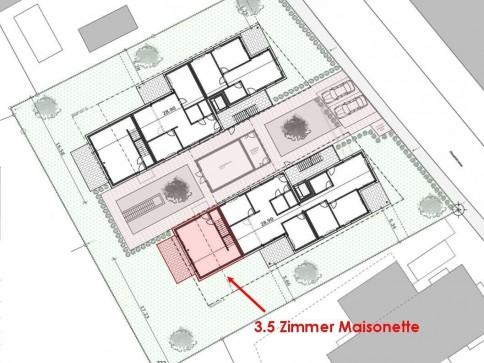 Moderne, zentral gelegene Maisonette-Wohnung