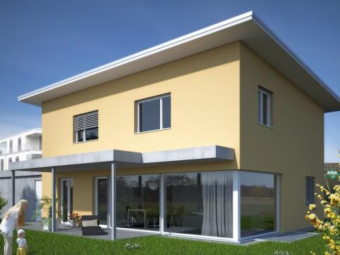 Modernes freistehendes Einfamilienhaus