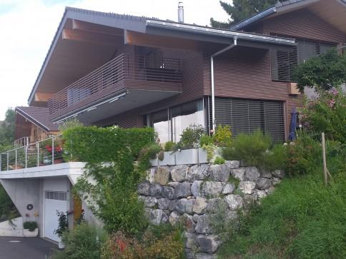 neu erstelltes modernes Einfahmilienhaus in grosszügiger Loftstruktur