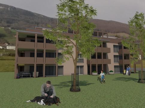 Neubau von 2 MFH mit 18 Eigentums-WHG's mit ausgezeichneter Aussicht