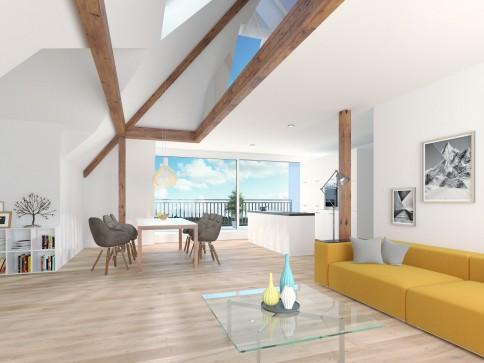 Neue 3 bis 4-Zimmer-Dachwohnungen