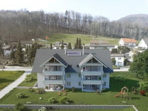 Neue 4 1/2 EG Wohnung links mit Gartenanteil