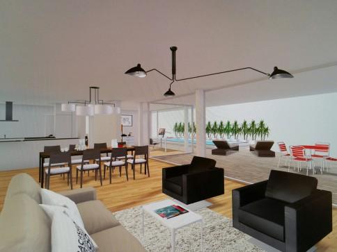 RES: 5.5-Zi Pool-Wohnung mit Alpensicht,grosse Lounge-Terrasse, ÖV
