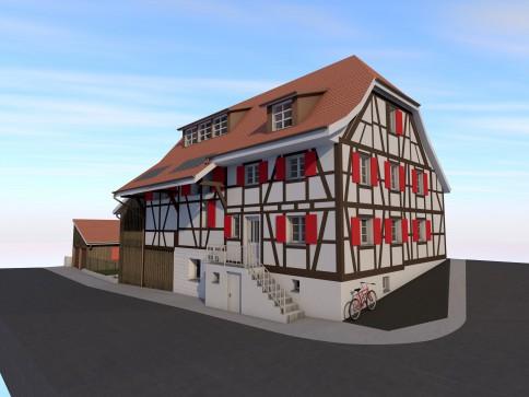 Traumhafte neue Eigentumswohnung mit viel Charme im Riegelbauhaus
