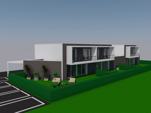 Villa jumelle en construction