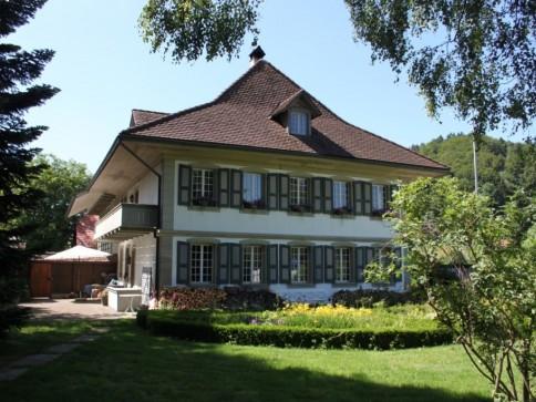 Zu verkaufen 10 Zimmer Herrschaftsh. mit Werkstatt und 3010 m2 Umgeb.