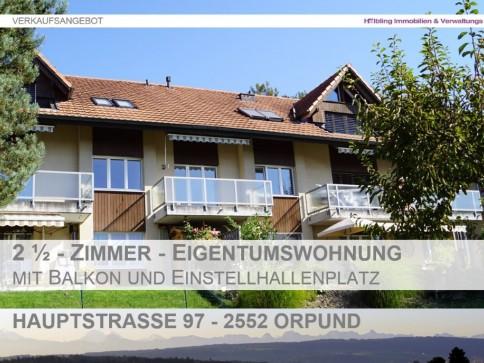 2.5-Zimmerwohnung mit Balkon (Aussicht) und Einstellhallenplatz