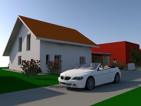 4.5-6.5 Zimmer Einfamilienhaus mit Carport und Geräteraum