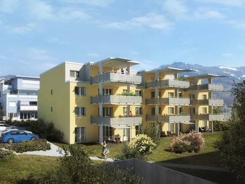 5.5 Zi.-Wohnung sowie 20 m2 gedeckter Balkon