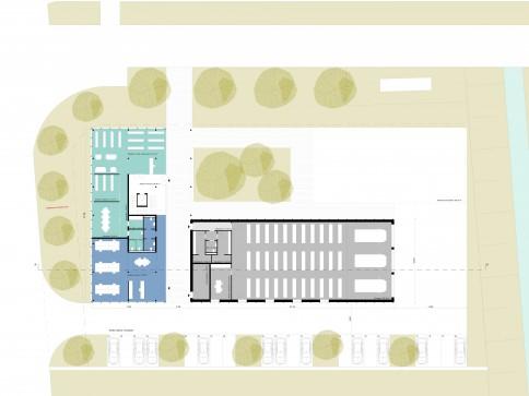 Bâtiment administratif à PST, Yverdon-les-Bains