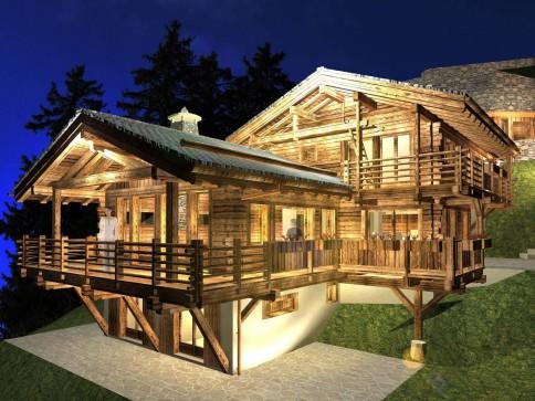 Chalet Grand Tavé - magnifique chalet en vieux bois en construction