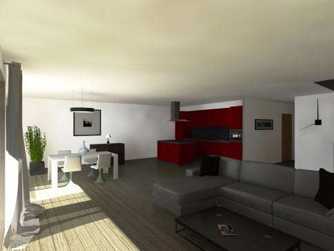 Grand duplex de 5,5 pièces avec terrasse et vue magnifique