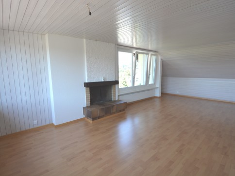 Grosse und helle 2 1/2-Zimmer-Dachwohnung mit herrlicher Weitsicht