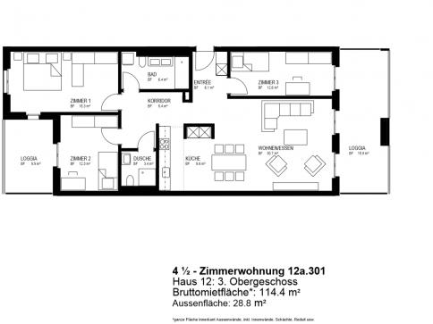 Moderne, schöne 4.5-Zimmerwohnung in Opfikon