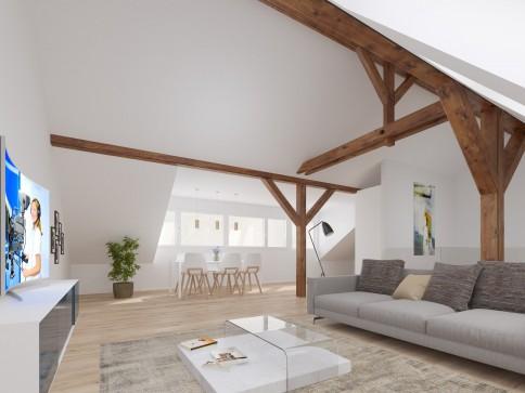 Sanierte 4,5-Zimmer-Maisonette-Dachwohnung in Altbau