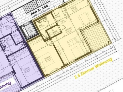 Schöne 2.5-Zimmer Wohnung Obergeschoss