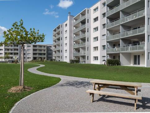 Sitzplatz Wohnung Erstvermietung TRIO Amriswil