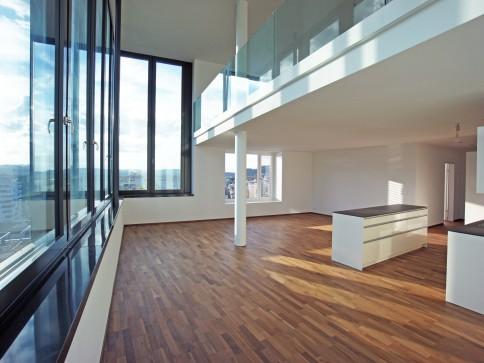 Stadt Thun: Attika-Duplex-Wohnung mit Terrasse,Galerie,Alpen+Aaresicht