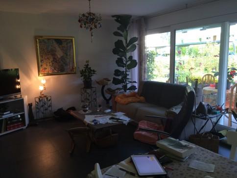 Villeneuve 2,5 pces, rez avec jardin à louer