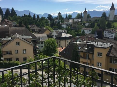 Wohnen mit freier Aussicht auf Musegg und Alpen v Rigi bis Pilatus