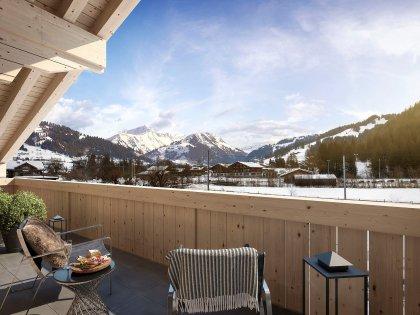 Aussicht vom Balkon in Richtung Gstaad