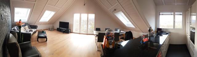 Moderne, helle Dachwohnung (3.5 Zimmer, 93m2) mit herrlicher 22107048